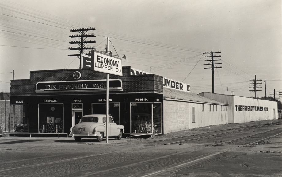 Picture of the Economy Lumber Company storefront circa 1950.