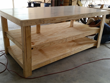 Image of custom built industrial table